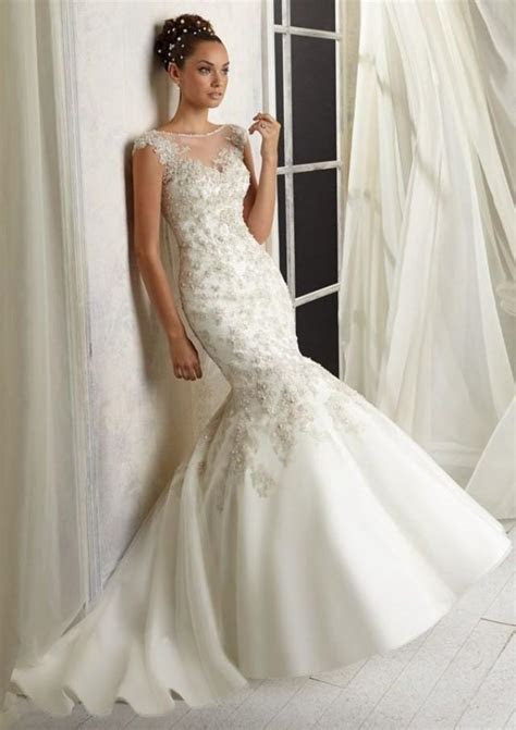 whiteivory mermaid wedding dress bridal gown