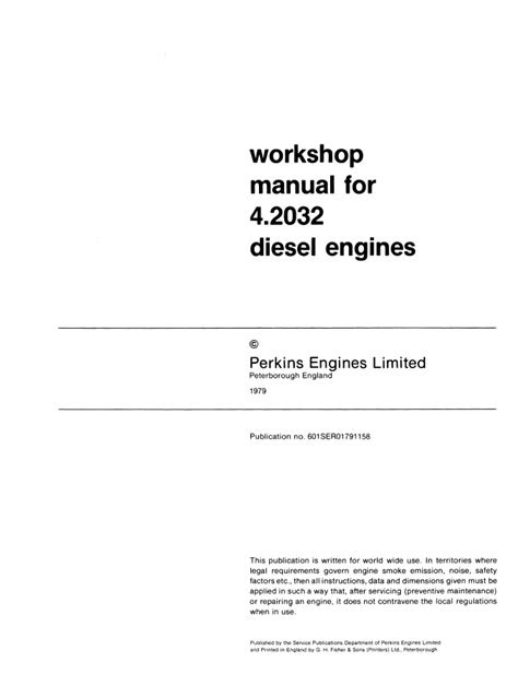 New Holland Perkins Diesel Engine 4.2032 PDF Service