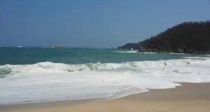 Cierran la navegación en Bahías de Huatulco por onda tropical