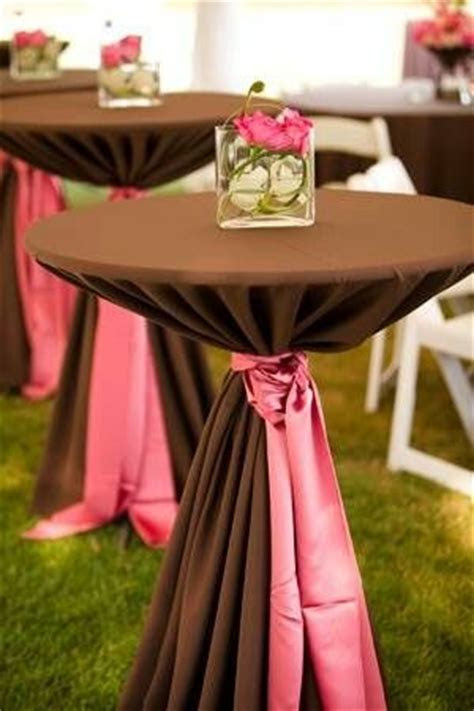 Fantastic Color Palette for Chocolate Cocktail Table with