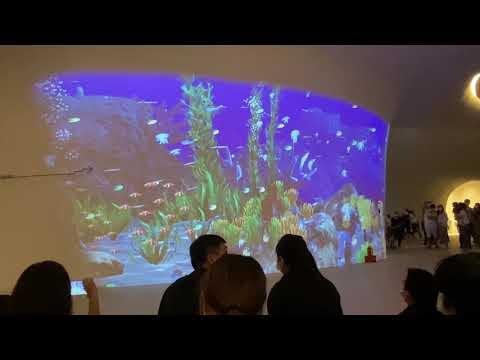 光之曲幕 T.A.P. Project - 夢幻的曲牆投影海底世界 @ 臺中國家歌劇院