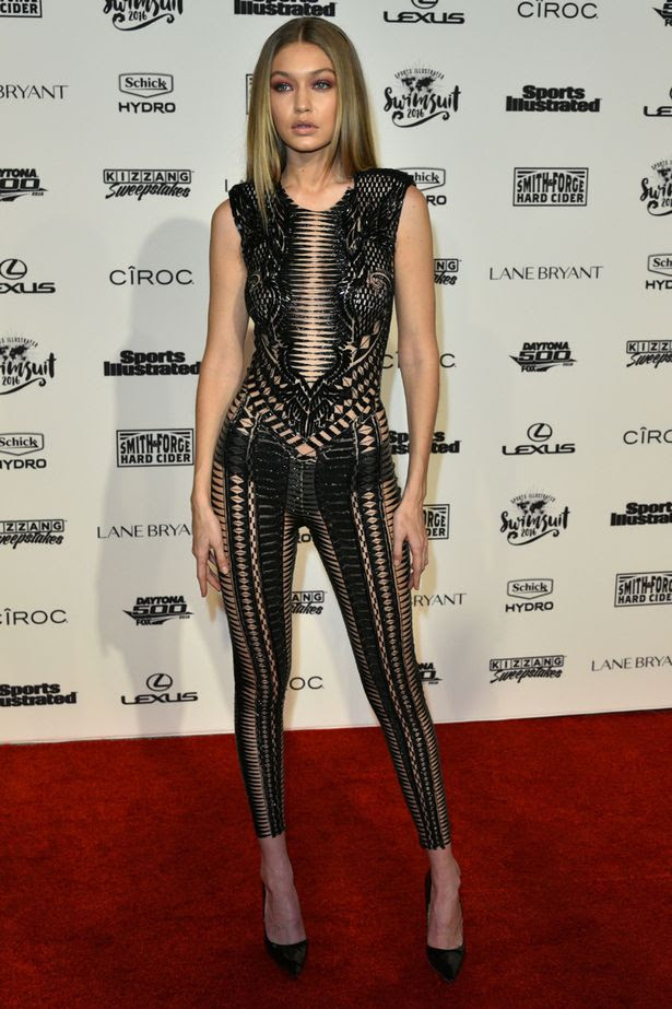 Gigi Hadid at the Sports Illustrated Swimsuit launch