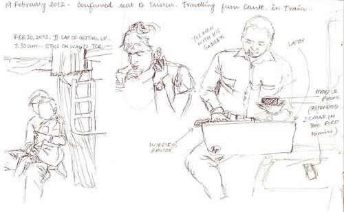 Train sketches - 1 by teshionx