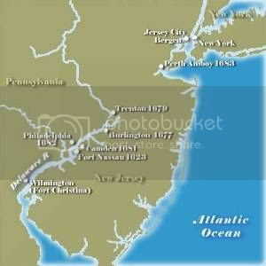 Map of Colonial New Jersey