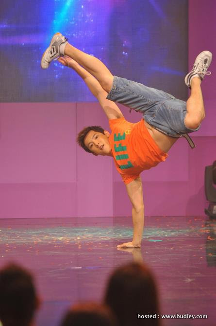 Over the top, hip hop performance by Jake You