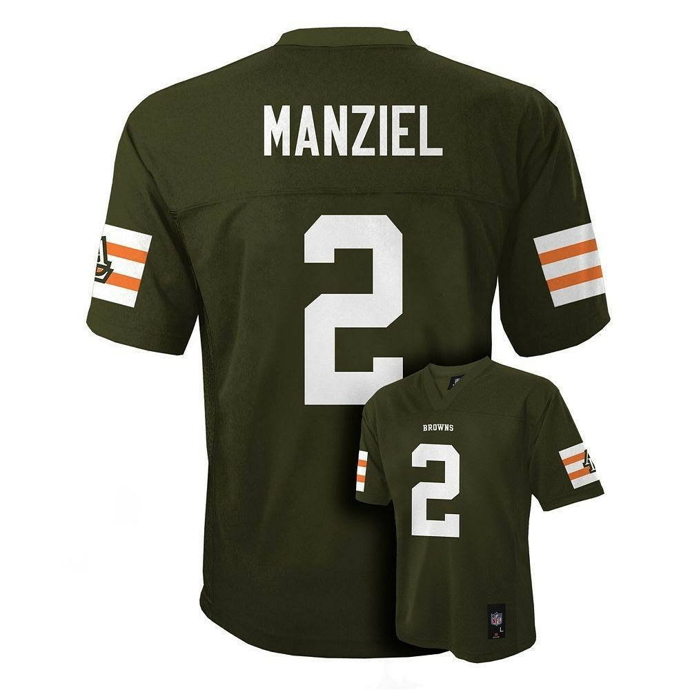 $55 Cleveland Browns JOHNNY MANZIEL nfl Jersey YOUTH KIDS BOYS ssmall  eBay