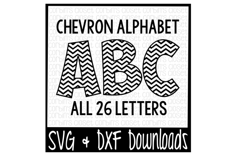 Chevron Stencil Cut File and PNG formats Digital download cut file in SVG DXF