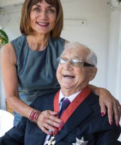 Sir Peter Williams QC with his wife, Lady Heeni, after being knighted at his home in Auckland by Governor General Sir Jerry Mateparae.