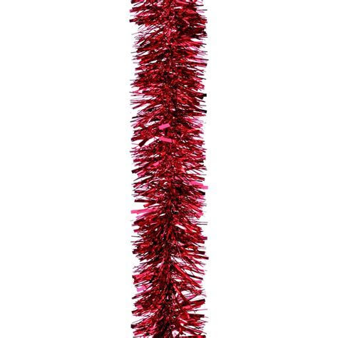 Large Chunky Red Tinsel   Christmasshop