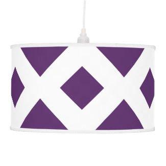 Purple Diamonds on White Lamp