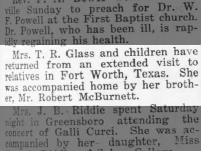 Carrie McBurnett Glass and brother, Robert McBurnett