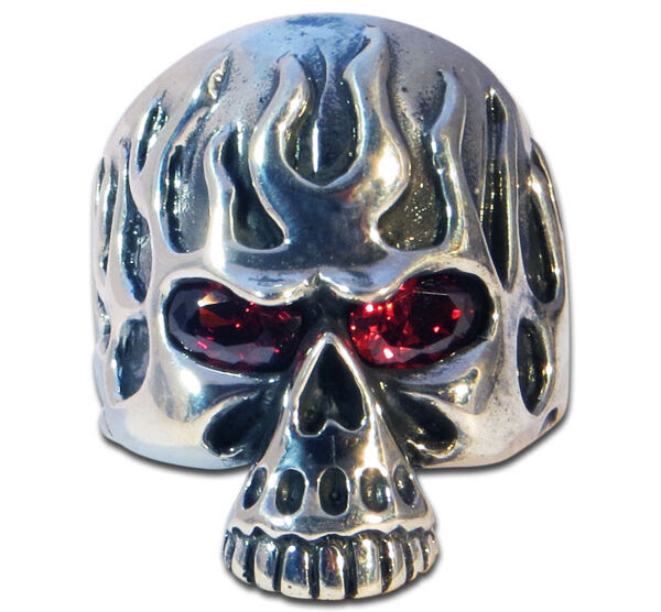 Ring Mens Biker scull sterling silver handmade jewelry 925 Rock motorcycle  eBay
