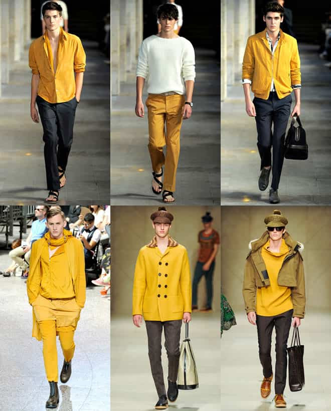 Yellow Colour Trend on The Spring/Summer 2012 Men's Runways