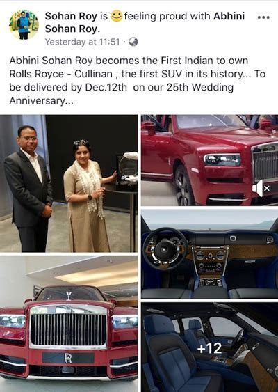 Sohan Roy gifts his wife a 5 crore Rolls Royce