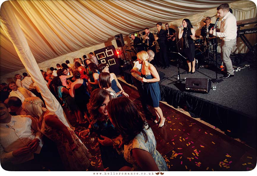 Dancing in Marquee at Helmingham Hall Wedding Photography - Katie and Greg - Hello Romance Wedding Photography Ipswich Suffolk