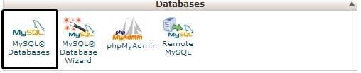 MySQL cPanel Icon