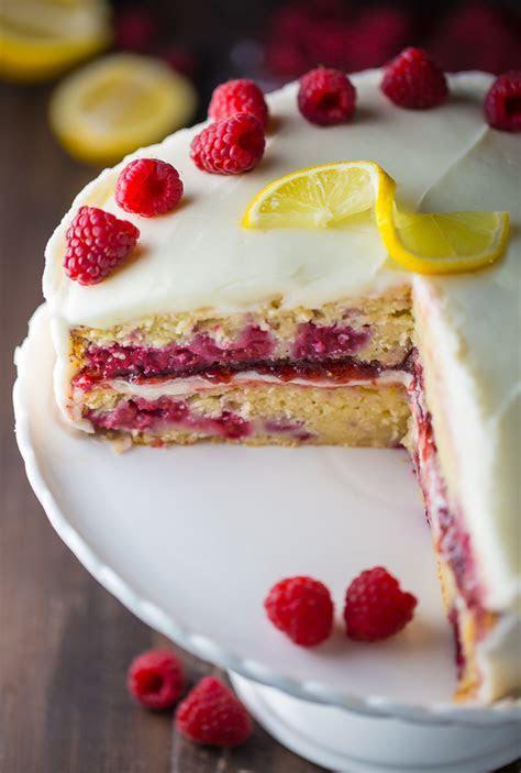 Lemon Raspberry Cake   Baker by Nature