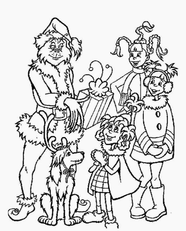 How The Grinch Stole Christmas Coloring Page - Coloring Home