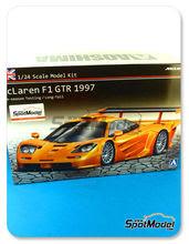 Maqueta de coche 1/24 Aoshima - McLaren F1 GTR Long Tail - Version de pre-temporada 1997