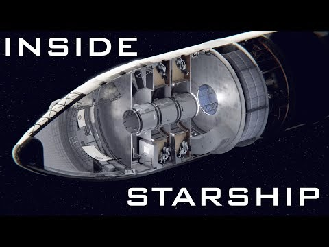 Animation of SpaceX Starship interior concept by DeepSpaceCourier