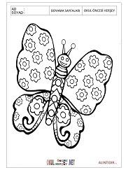 Kelebek Boyama Sayfaları Hayvanlar Axipixde