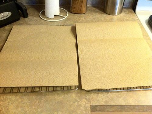 Line Cooling Racks w/ Paper Towels