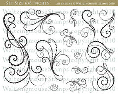 Flourishes - Scallops and Dots