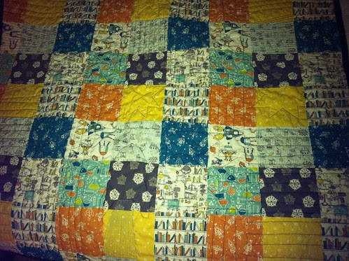 back of space quilt