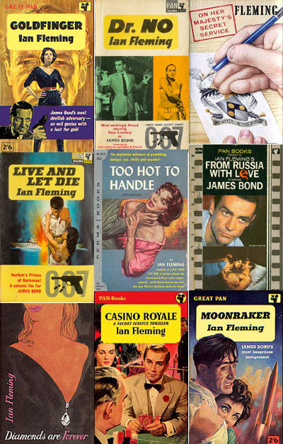 Classic James Bond covers