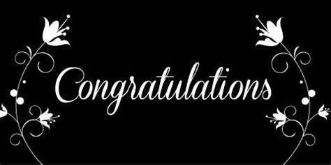 Congratulations Banner   Black