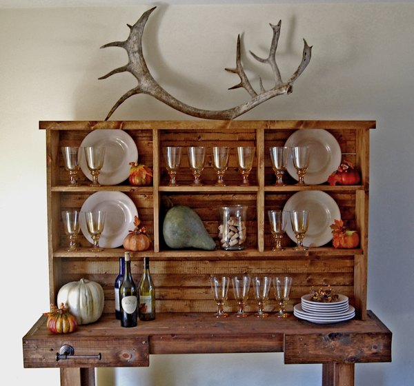 Ana White | Rustic Hutch for the Workbench Console - DIY ...