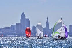 sailing offshore of Cleveland, Ohio