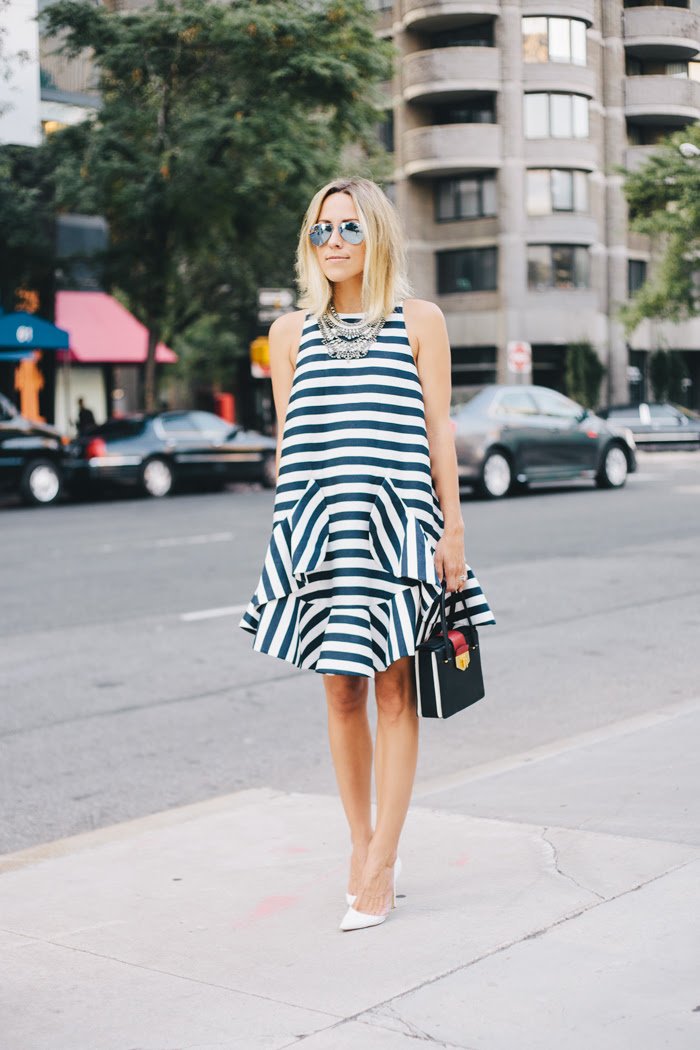 Stripe Dress in NYC