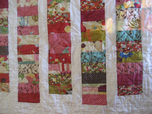 quilt with staggered coins
