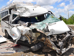 Acidente na BR-101 deixa uma pessoa morta na Paraíba (Foto: Walter Paparazzo/G1)