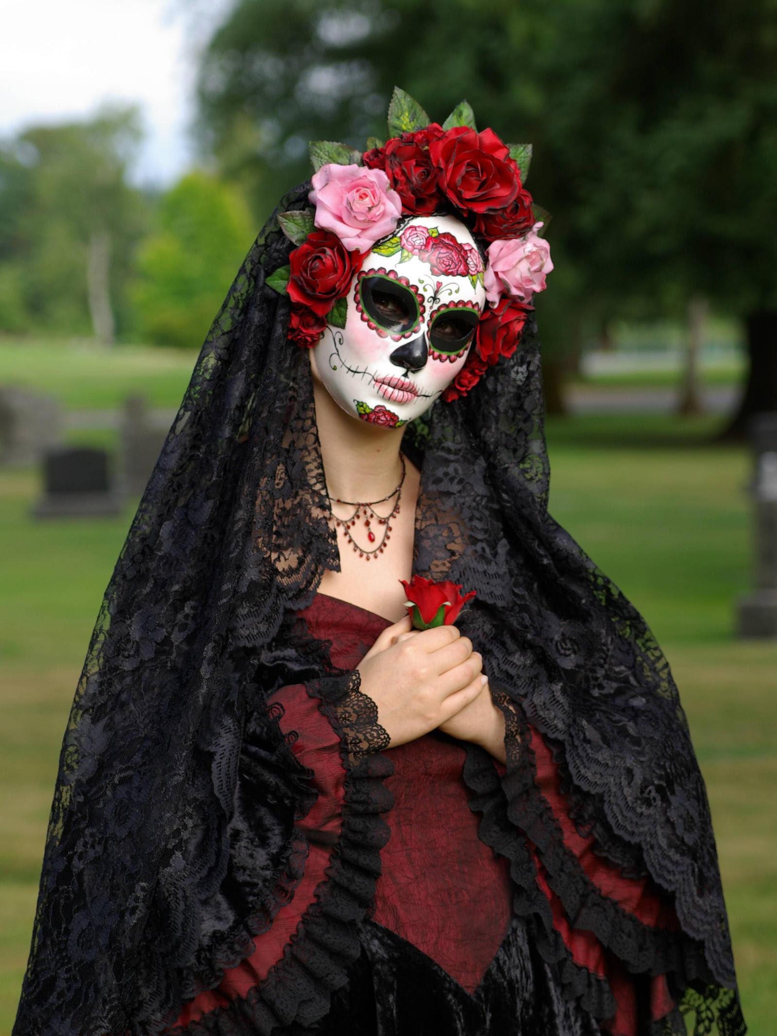 Handmade Mask-La Rosa Catrina by EffigyMasks on DeviantArt