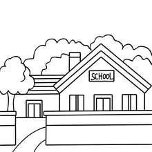 School Entrance Coloring Pages Hellokidscom