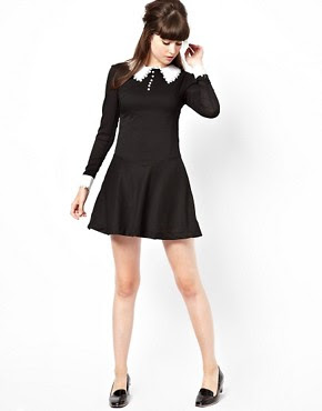 Image 4 of Pop Boutique Swing Dress with Lace Collar and Cuff