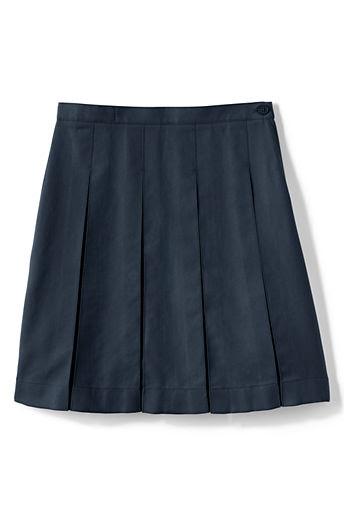 Little Girls' Box Pleat Skirt (Below The Knee)
