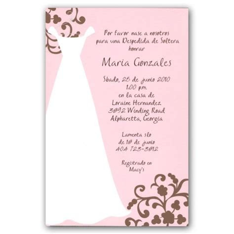 spanish pink bridal shower invitations paperstyle