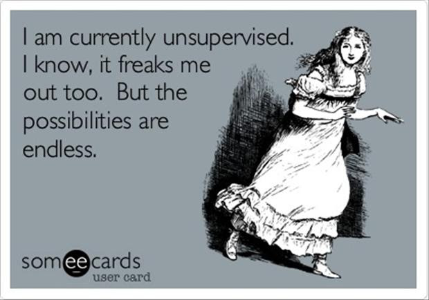 Funny Quotes I Know I Am Unsupervised Dump A Day