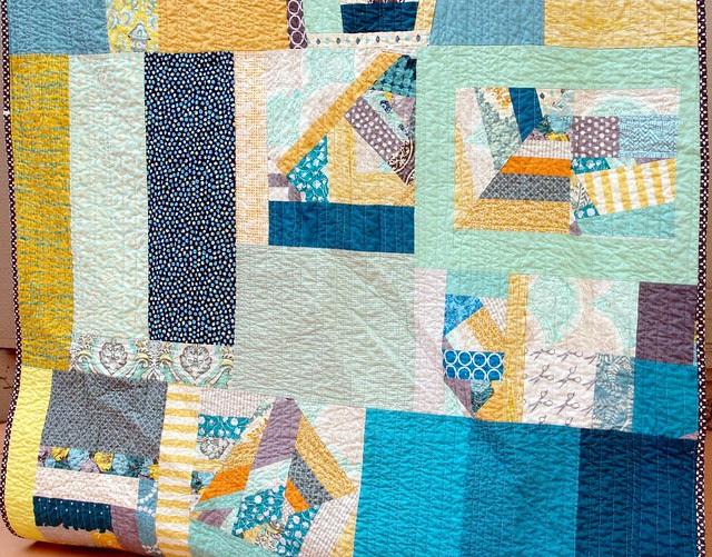 FO: Improv quilt