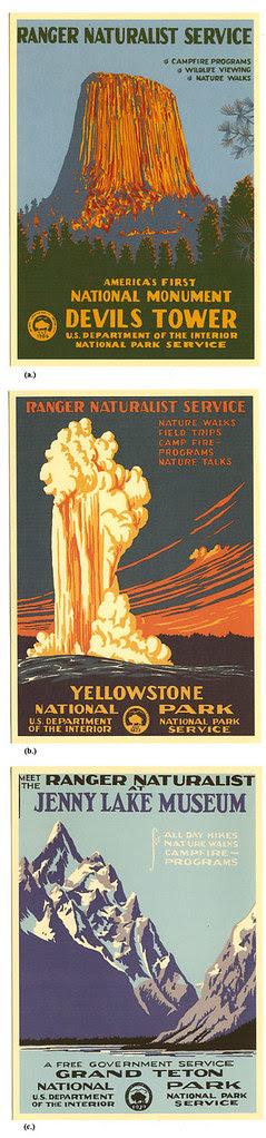 WPA National Park cards_tatteredandlost