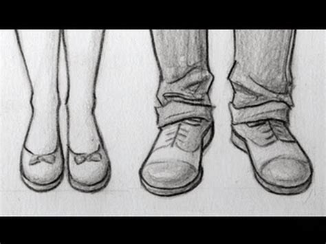 draw feetshoes front view male female youtube