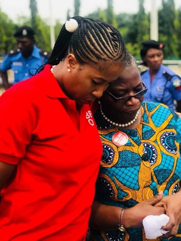 Oby Ezekwesili, Others Protest In Abuja Over Killing Of Hauwa And Saifura By Boko Haram