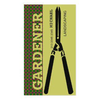 Gardening Scissors for Gardeners Business Cards