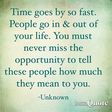 Time Goes So Fast Quotes