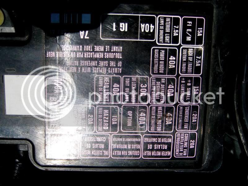 95 Acura Integra Fuse Box Diagram