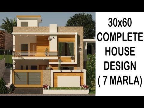 7 Marla complete house design 30x60 plot area