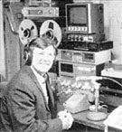 Kevin Strom in 1991 in the first American Dissident Voices radio studio